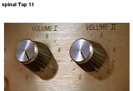 Week 11 – This One Goes to Eleven