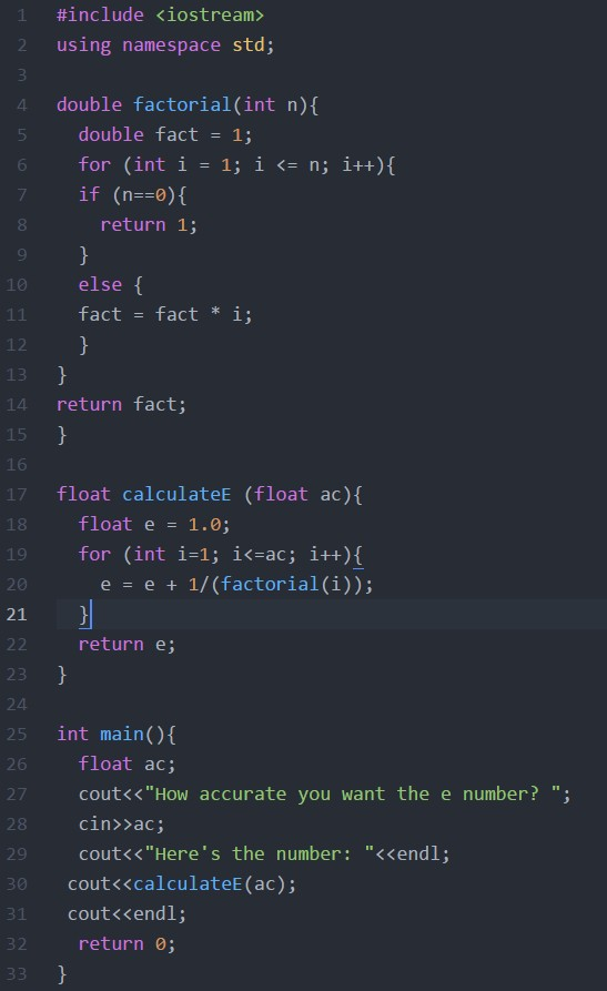 Quiz 4, Euler number
