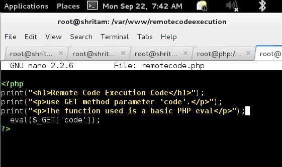 Vulnerabilidad de evaluación de código remoto